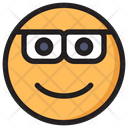 Nerd Emoji Expression Icon