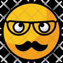 Nerd Glasses Face Icon