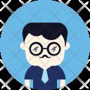 Nerd Glasses Tie Icon