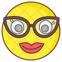 Geek Emoji Geek Expression Emotag Icon