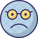 Nerdy Glasses Face Emoticon Icon