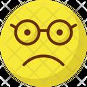 Nerdy Glasses Face Emoticon Icon