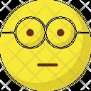 Nerdy Glasses Face Emoticon Emotion Icon