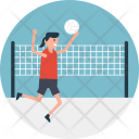 Netball Playing Players Icon
