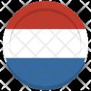 Netherlands Flag Circle Icon