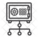 Network Safe Valut Icon