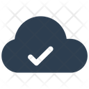 Checkmark Cloud Storage Icon