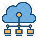 Network Cloud Connection Online Data Storage Icon