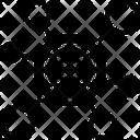 Network Web Reticulation Icon