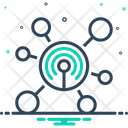 Network Web Reticulation Icon