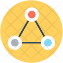 Network Diagram Triangle Icon