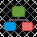 Network Data Workflow Icon