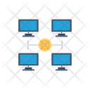 Network Connection Bitcoin Icon