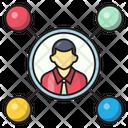 Network Sharing Marketing Icon