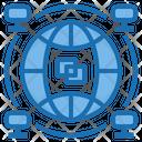 Network Big Data Blockchain Icon