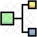 Network Hierarchy Connection Icon