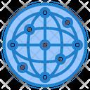 Network Big Data World Icon