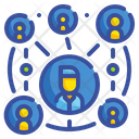 Network Teamwork Connection Icon