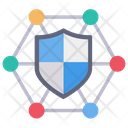 Network Connection Shield Icon