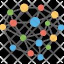 Network Molecular Structure Icon