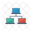Network Connect Computer Icon