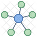 Network Mind Map Icon
