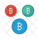 Network Connection Bitcoins Icon