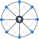 Position Network Cartography Icon