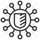 Network Protection Shield Icon