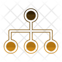 Network Structure Wireframe Icon