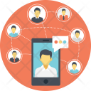 Network Communication Social Icon