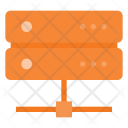 Network Connected Database Icon