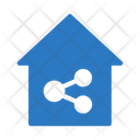 Connection Network House Icon