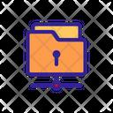 Folder Lock Close Icon
