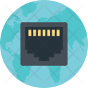 Network Port Connection Icon