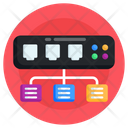 Ethernet Network Network Ports Broadband Networking Icon
