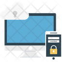 Network Protection Cloud Computing Mobile Security Icon