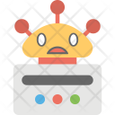 Network Robot Chatbot Icon