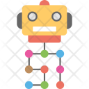 Network Robot System Icon