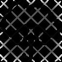 Network Security Cloud Network Umbrella Icon