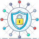 Network Security Cyber Safety Protective Network Icon