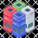 Datacenter Database Data Racks Icon