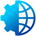 Network Setting Finance Global Icon