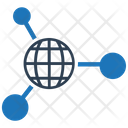 Social Network Global Network Connection Icon