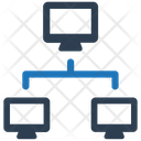Cloud Computing Computers Connection Icon