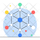 Network Sharing Network Encryption Network Nodes Icon