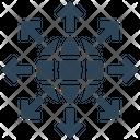 Big Data Network Sharing Icon