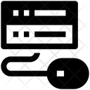 Network Sharing Mainframe Mouse Icon