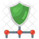 Network Shield Protection Safety Shield Icon