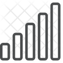 Bar Graph Sorting Network Bar Icon